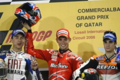 Qatar's MotoGP Podium